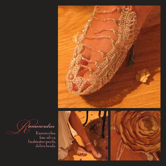 Ranunculus Shoes by Anne Annabelle Jones