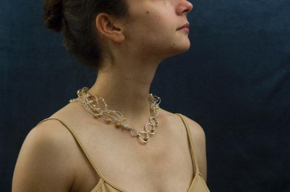 Float necklace by Anne Annabelle Jones