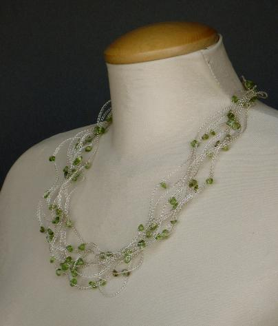 Green Spring Necklace by Annabelle Jones