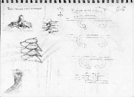 Orchid Clasp sketches by Anne Annabelle Jones