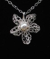 Pearl Blossom Pendant by Anne Annabelle Jones
