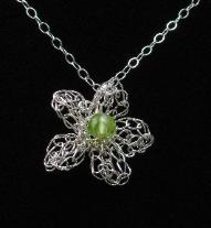 Peridot Blossom Pendant by Anne Annabelle Jones