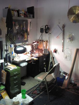 annabelle, jones, studio, jewelry, jeweler's bench, workbench